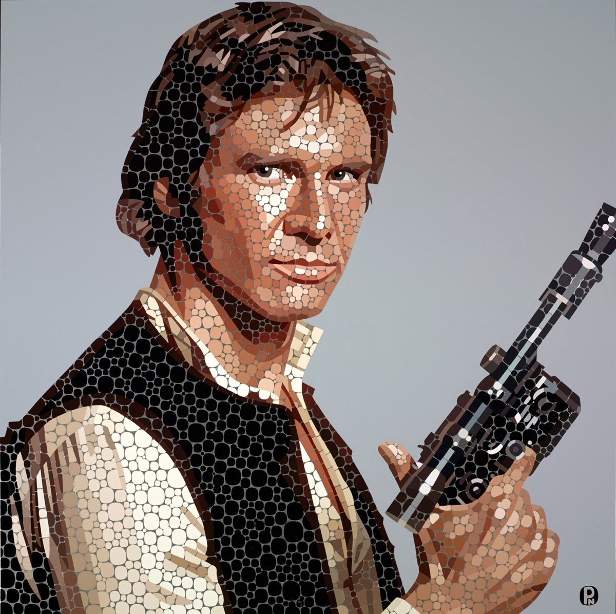 Han Solo by paul normansell -  sized 28x28 inches. Available from Whitewall Galleries